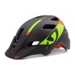 Каска Giro Feature L черен мат зелен