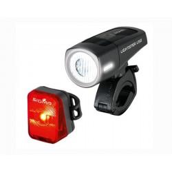 Комплект фар Sigma Sport Lightster USB + стоп Nugget Flash
