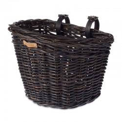 Кошница предна Тъмен Ратан плетена + стойка