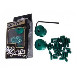 Пинове и капачки за педали к-т DMR зелен