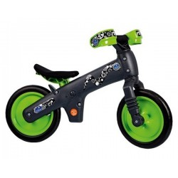 Велосипед за баланс Bellelli пластмасов бял зелен