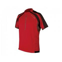 Мъжка блуза с къс ръкав и цип Endura Hummvee
