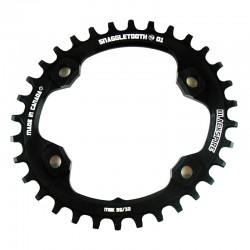 Плоча за курбели Blackspire Snaggletooth Oval N/W за Shimano XT M8000 Cranks
