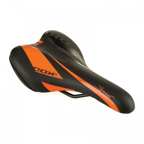 Седло COX Speed TM new черен оранжев