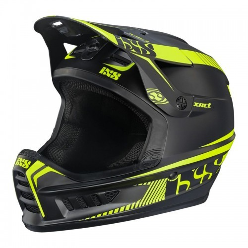 Шлем IXS Xact L/XL черен лайм