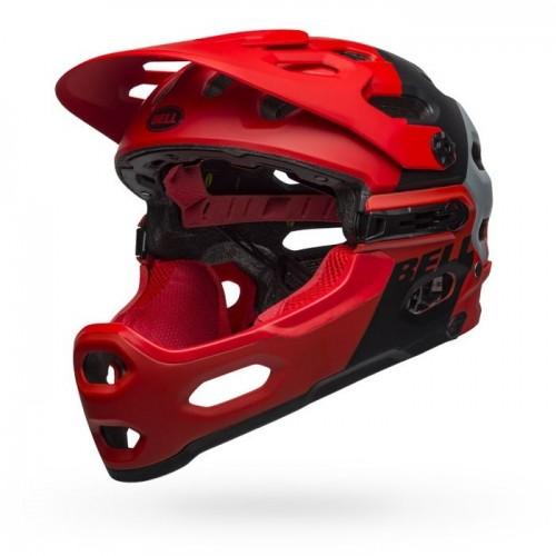 Шлем Bell Super 3R Mips L червен черен сив