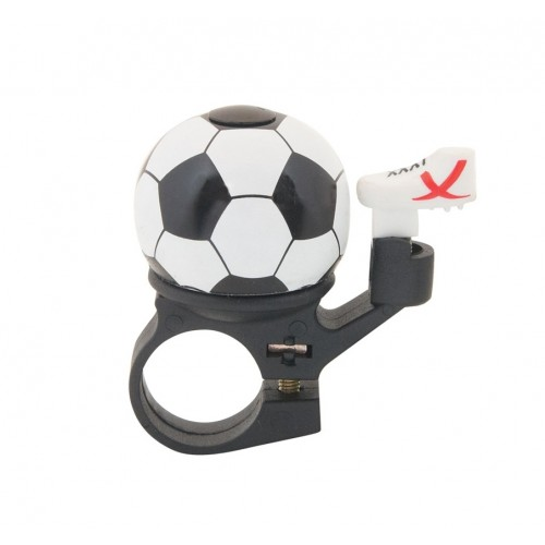 Звънец-мини RideFIT Football 35mm алум. различни ц