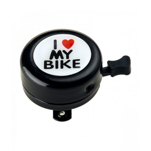 Звънец I love My Bike 54mm стомана черен