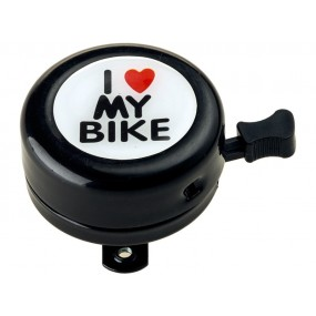Звънец RideFIT I love My bike 54mm алум. черен