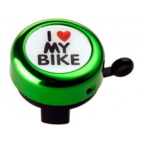 Звънец RideFit I Love My Bike Alu Color