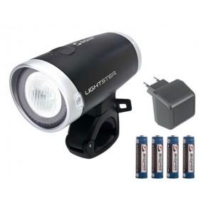 Фар Sigma Sport Lightster + батерии + адаптер