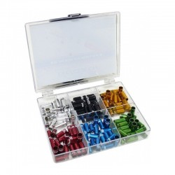 Quaxar 5mm sealed alloy ferrules w/ print in 6 colors combo pack