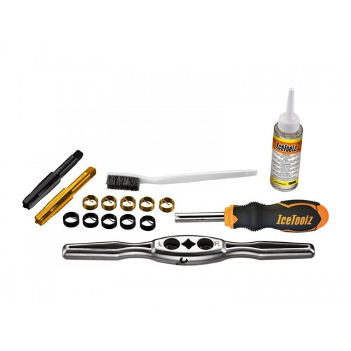 IceToolz E521 Crank Bolt Thread Repair Tool Kit