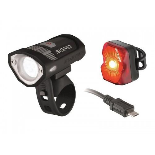 Sigma Sport Buster 200 Front Light + Nugget Flash Rear Light Set