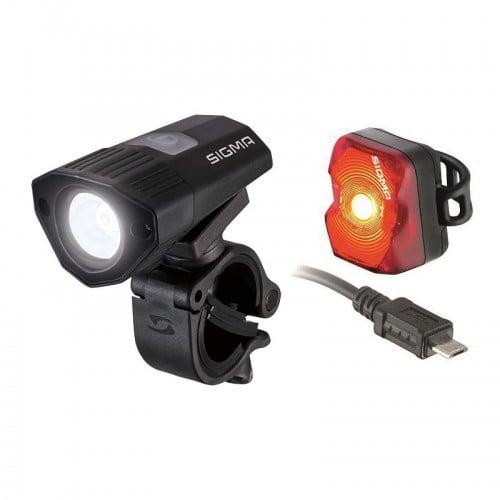 Sigma Sport Buster 100 Front Light + Nugget Flash Rear Light Set