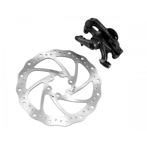 Tektro Novela Rear Mechanical Disk Brake + Rotor