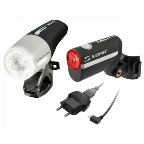 Sigma Sport Speedster Front Light + Hiro Rear Light Set