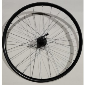 Rear wheel 26 Aero 24H B/A SH FH-M475 QR black silver spokes