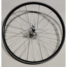 Rear wheel 26 Aero 24H B/A SH FH-M475 QR gray silver spokes
