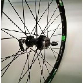 Front wheel 26 Aero X11 32H B/A KT-TD7F QR Disc black/black spokes