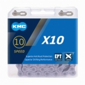 Chain KMC X10 EPT 10speed 116 MTB/road silver