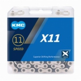 Chain KMC X11 11speed 118 MTB/road gray