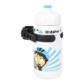Bicycle bottle Zefal Blanc Z-Boy blue