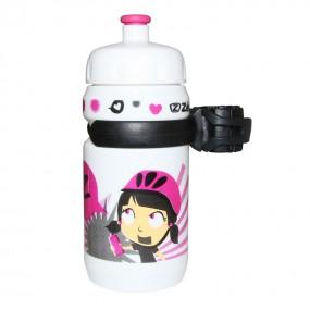 Bicycle bottle Zefal Blanc Z-Girl pink