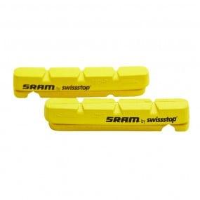 Brake pads rubber Sram Swisstop yellow carbon road