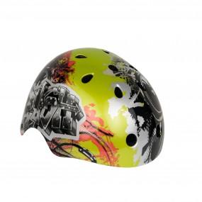 Helmet children DRAG Xcool М BMX green print