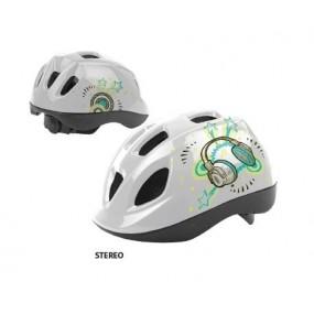 Helmet children DRAG Stereo S white yellow green