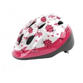 Helmet children DRAG Ladybird XS white pink
