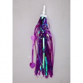 Handlebar grip decoration Purple
