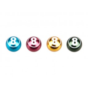 Valve Cap COX Ball-8 Alu ixed Colors Anodized