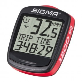 Bicycle computer Sigma sport Base 1200 WL wireless black red