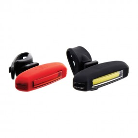 FRONT & REAR LIGHTS RIDEFIT COBBY SILICON USB SET