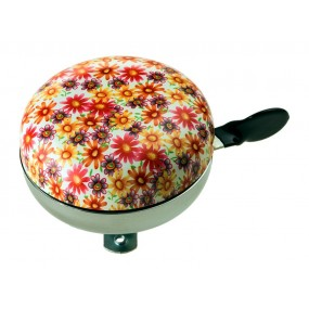 RideFit Steel XL Orange Flowers Bell