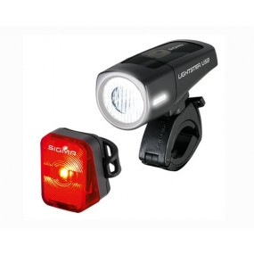 Sigma Sport Lightster USB Front Light + Nugget Flash Rear Light Set
