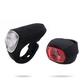 Head light/Tail light RideFIT Steady Silicon Set USB black