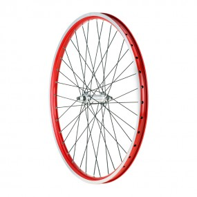 Front wheel 26 Jumbo 36H Red KT-A16F black spokes
