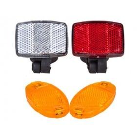 Set reflector rear/front/spokes Reflector
