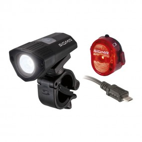 Sigma Sport Buster 100 Front Light + Nugget II Flash Rear Light Set
