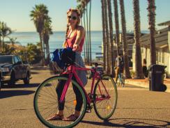 Красива на велосипед