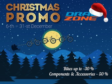 Christmas promo in DRAG ZONE with discounts up to 50%